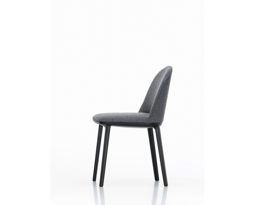 Vitra - Softshell Side Chair, Gestell basic dark, Filzgleiter harte Böden - 66nero - VitraPlano66 - 1
