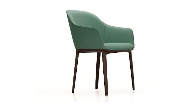 Vitra - Softshell Chair Vierbein-Untergestell  - grün-grau - 1