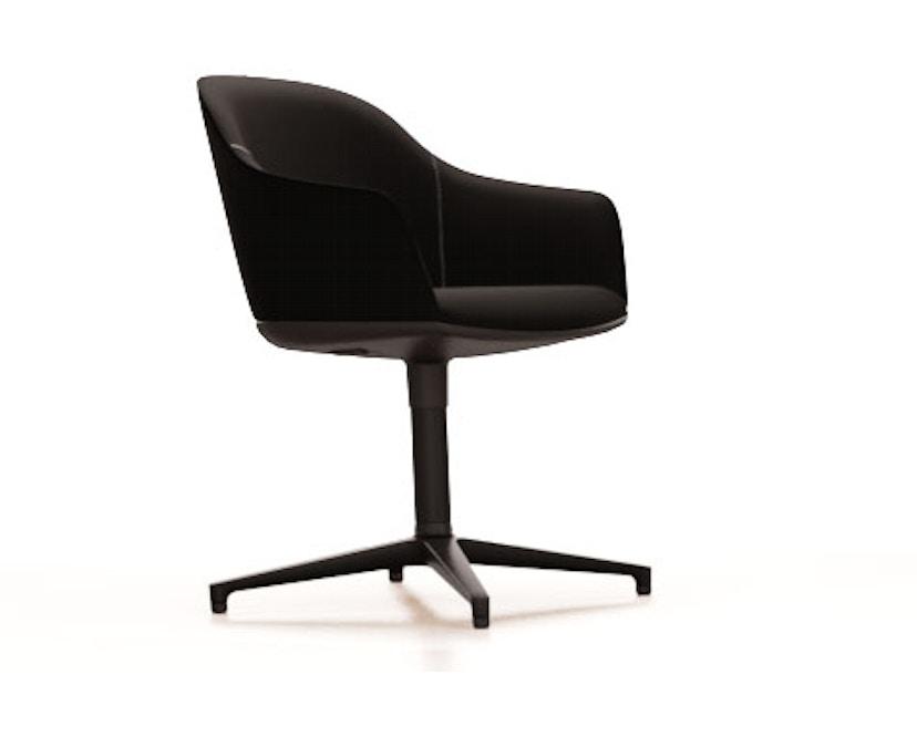 Softshell Chair  Viersternfuß - poliert , Plano  nero