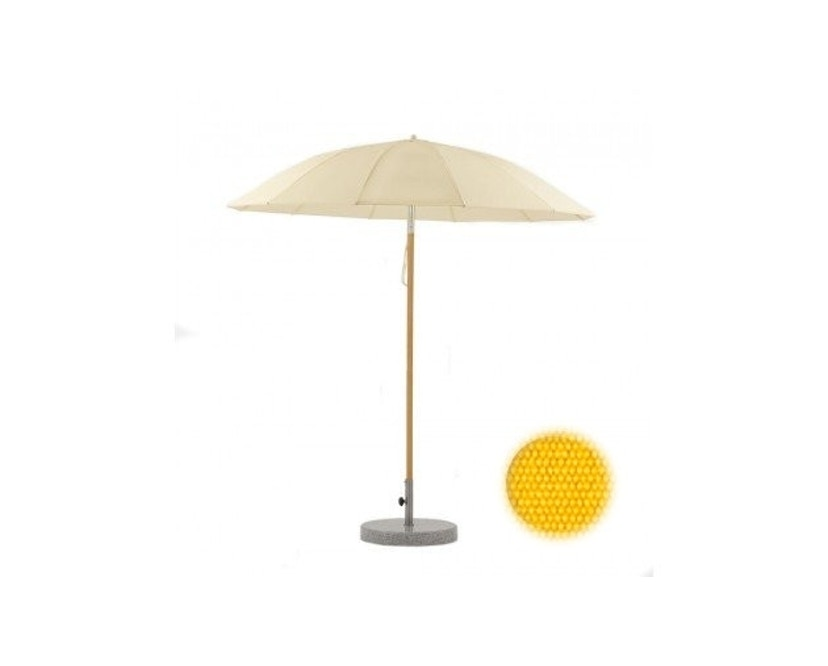 Weishäupl - Parasol Pagode - grand format - Dolan jaune - Ø 240 cm - alu/blanc - 1