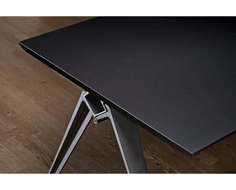Randers + Radius - GRIP Basic tafel - 239 - 80 cm - wit - Zonder stekkerdoos - zwart - 28