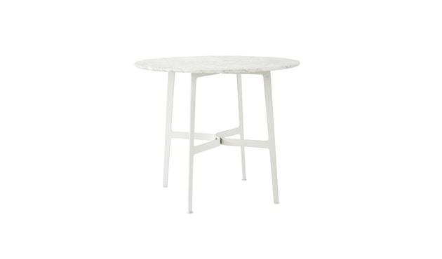 SP01 - Eileen Circular Marmor Tisch - White Carrara Marble - Blue(RAL 5001) - 1