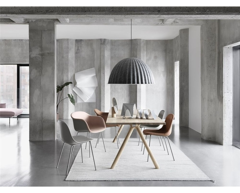 Fiber Side Stuhl - Kufengestell - grau - 8