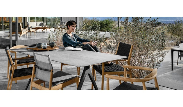 Gloster - Split keramiek-tafel - 170 x 100 cm - wit - 2