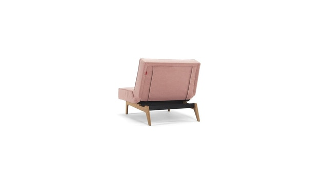 Innovation - Splitback fauteuil - Chroom - koraal - 4