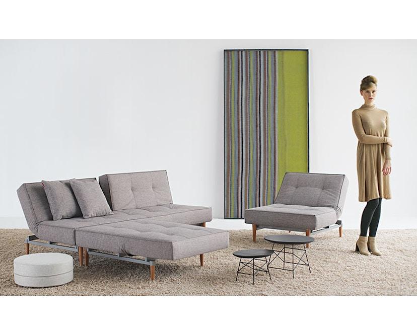 Innovation - Splitback Schlafsofa - Dess. 521 - grau - Beine Chrom - Gestell matt schwarz - 9