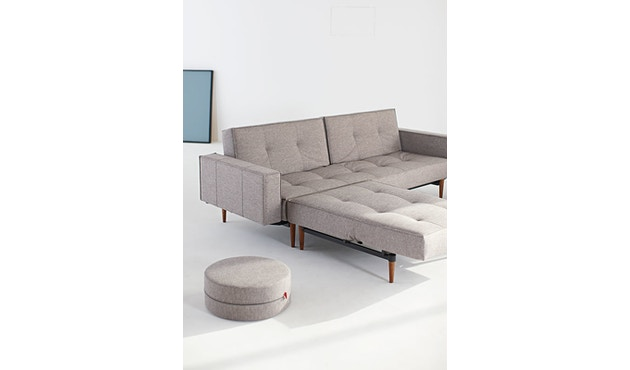 Innovation - Splitback Schlafsofa - Dess. 521 - grau - Beine Chrom - Gestell matt schwarz - 10