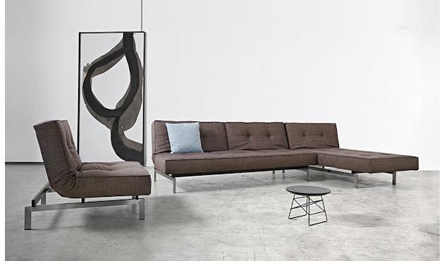 Innovation - Splitback Schlafsofa - Dess. 521 - grau - Beine Chrom - Gestell matt schwarz - 16