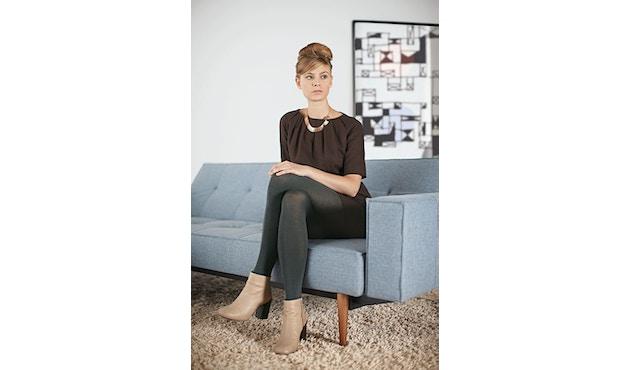 Innovation - Splitback Schlafsofa mit Armlehne - Dess. 216 - dunkelgrau - Beine Chrom - Gestell matt schwarz - 4