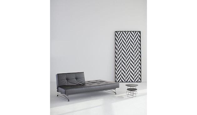 Innovation - Canapé-lit avec accoudoirs Splitback - gris foncé - flashtex - chrome - 7
