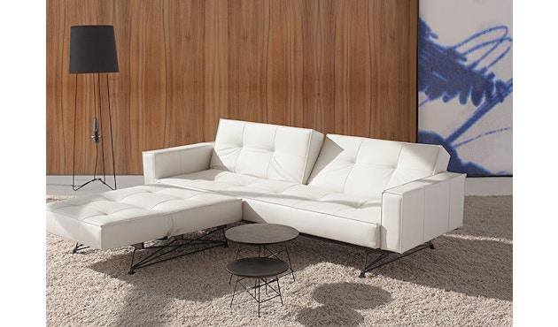 Innovation - Canapé-lit avec accoudoirs Splitback - gris foncé - flashtex - chrome - 8
