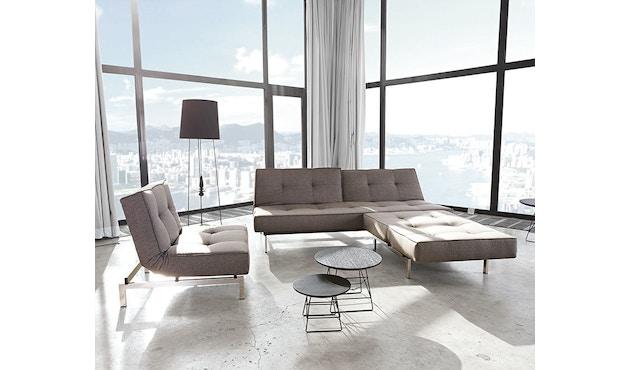 Innovation - Canapé-lit avec accoudoirs Splitback - gris foncé - flashtex - chrome - 9