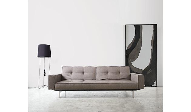 Innovation - Splitback Schlafsofa mit Armlehne - Dess. 216 - dunkelgrau - Beine Chrom - Gestell matt schwarz - 10