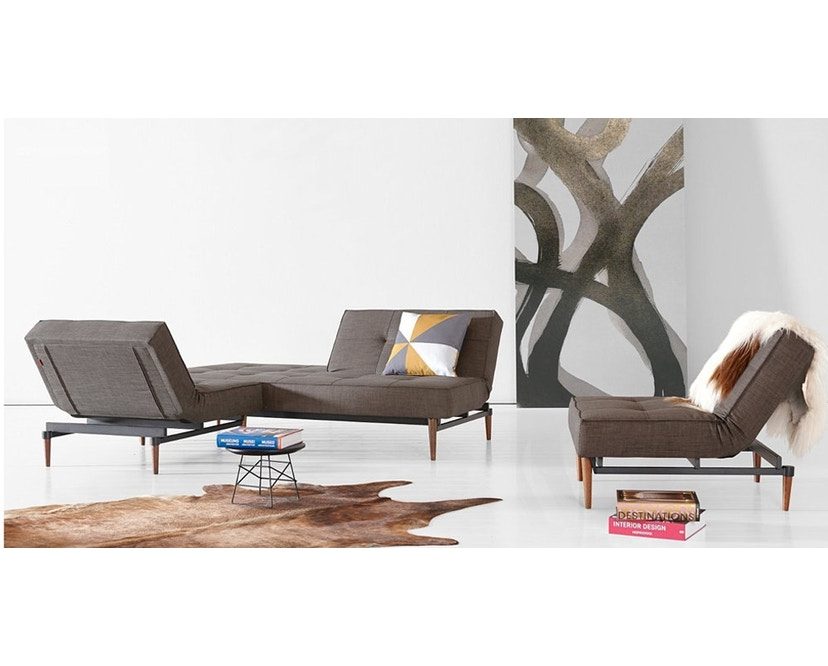 Innovation - Splitback fauteuil - Chroom - koraal - 19