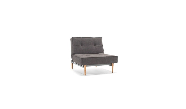 Innovation - Splitback Sessel - Dess. 216 - dunkelgrau - Beine Chrom - Gestell matt schwarz - 4