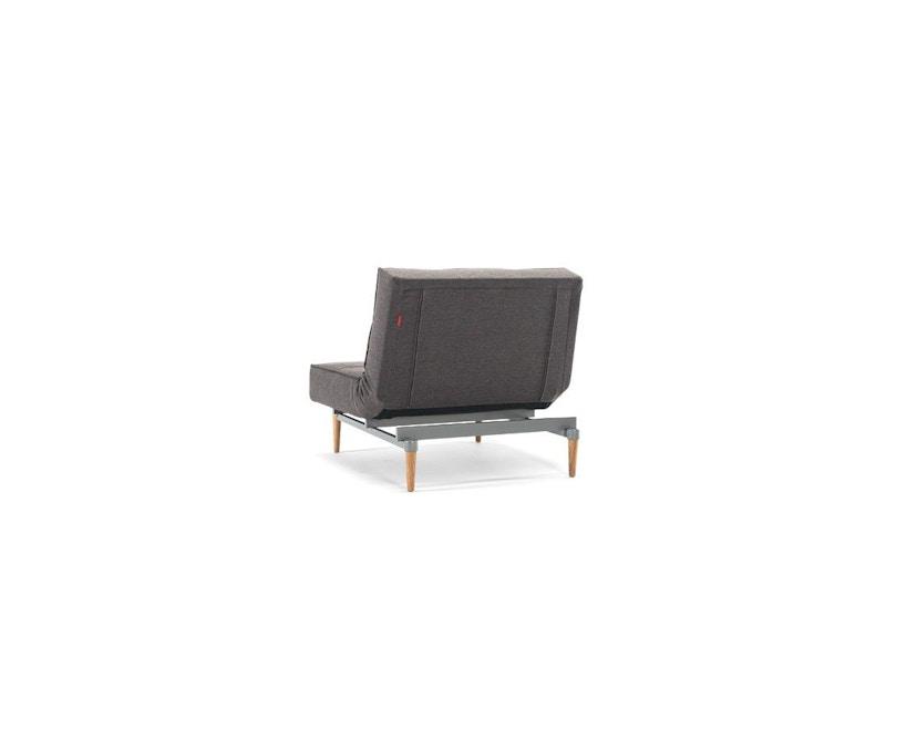 Innovation - Splitback Sessel - Dess. 216 - dunkelgrau - Beine Chrom - Gestell matt schwarz - 8
