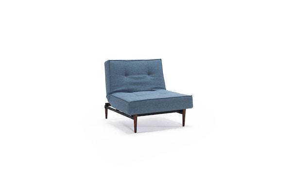 Innovation - Splitback Sessel - Dess. 525 - blaugrau - Beine Chrom - Gestell matt schwarz - 4