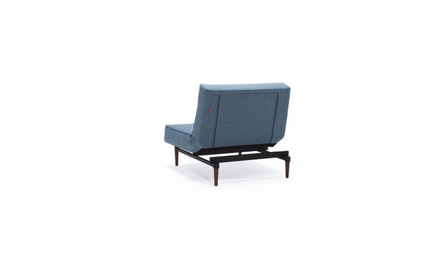 Innovation - Splitback Sessel - Dess. 525 - blaugrau - Beine Chrom - Gestell matt schwarz - 8