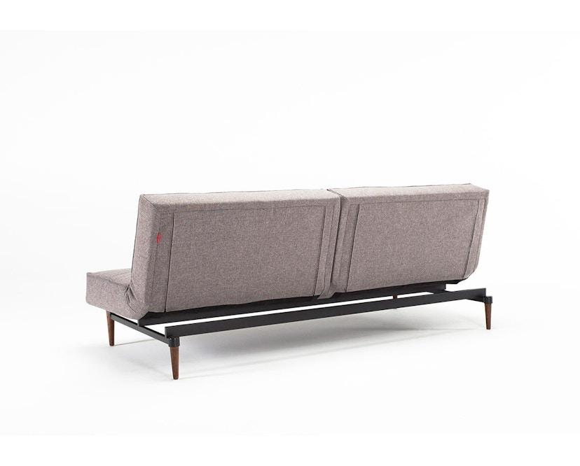 Innovation - Splitback Schlafsofa - Dess. 521 - grau - Beine Chrom - Gestell matt schwarz - 6