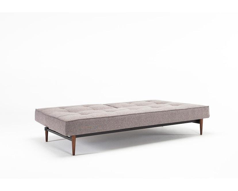 Innovation - Splitback Schlafsofa - Dess. 521 - grau - Beine Chrom - Gestell matt schwarz - 5