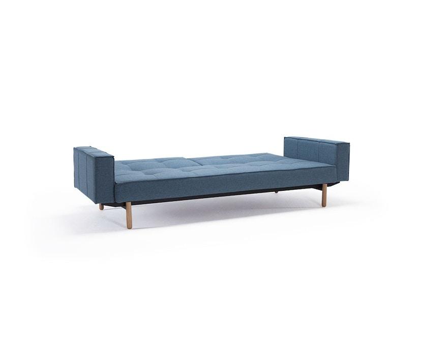 Innovation - Splitback Schlafsofa mit Armlehne - Dess. 525 - lichtblau - Beine Chrom - Gestell matt schwarz - 5