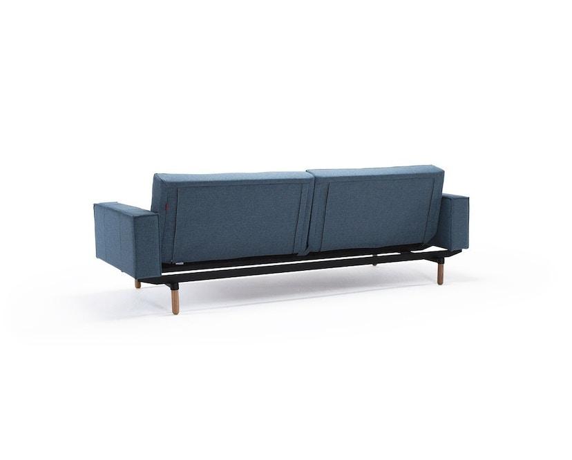 Innovation - Splitback Schlafsofa mit Armlehne - Dess. 525 - lichtblau - Beine Chrom - Gestell matt schwarz - 4