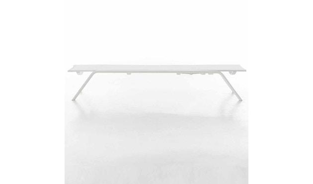 Gandia Blasco - Stack Liegestuhl - Gestell weiß - weiß - 3