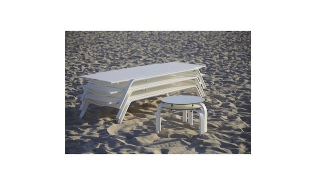 Gandia Blasco - Stack Liegestuhl - Gestell weiß - weiß - 6