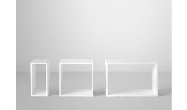 Muuto - Système d'étagères Stacked sans panneau arrière - blanc - grand - 3