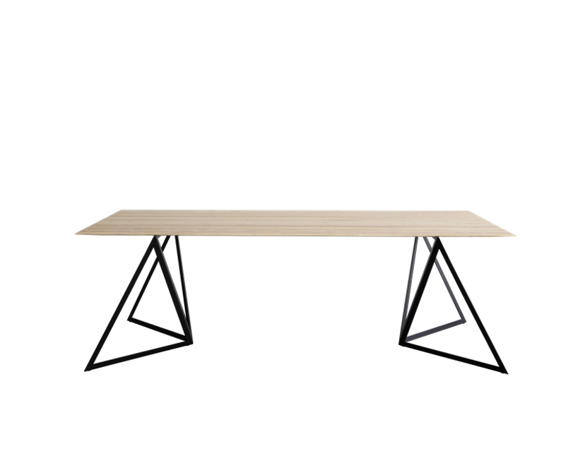 NEO/CRAFT - Steel Stand Table - zwart - S - Essenhout - 4