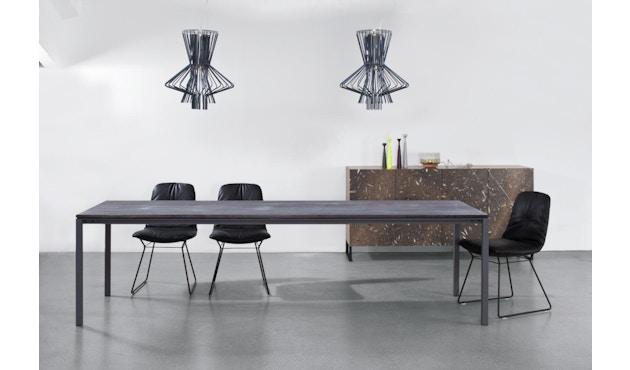 Janua - S 600 Tisch - Stefan Knopp - Eiche geköhlt (Ton schwarz) - Gestell Tiefschwarz - 80x80 - 2
