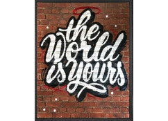 The world is yours - zwart schaduwframe