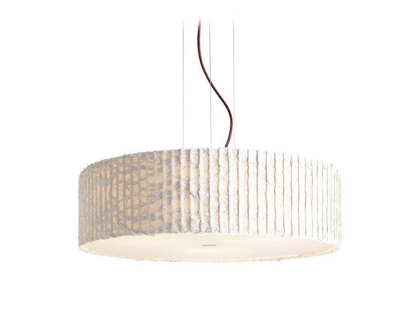 Domus - Sten Cloud Pendelleuchte - elfenbein - Textilkabel rot - 1