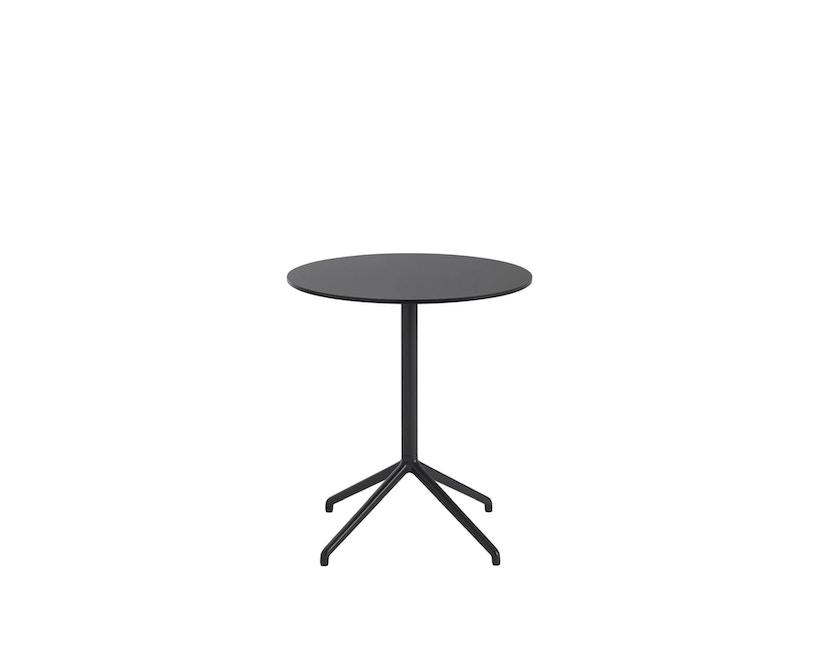 Muuto - Still Cafe Tisch rund - S - schwarz/schwarz - 1