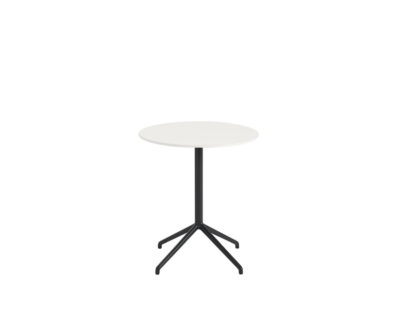 Muuto - Still Cafe Tisch rund - S - schwarz/weiß - 1