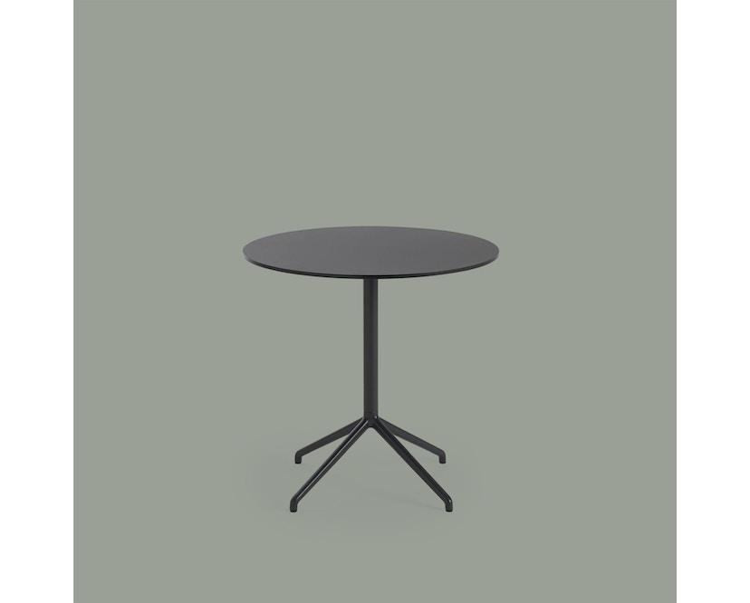 Muuto - Still Cafe Tisch rund - S - schwarz/schwarz - 3