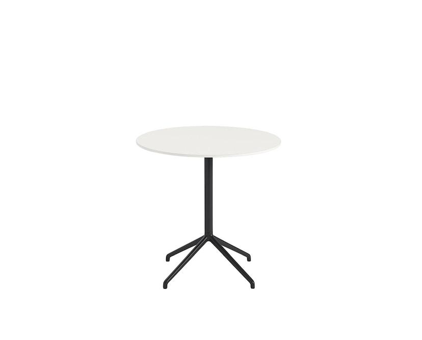 Muuto - Still Cafe Tisch rund - S - schwarz/weiß - 2