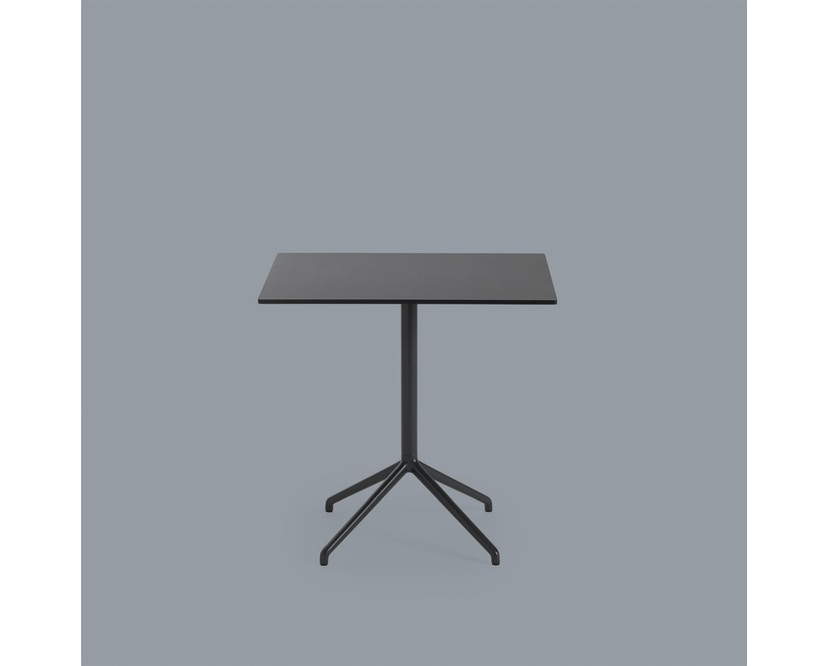 Muuto - Still Cafe Tafel rechthoekig - S - zwart/zwart - 2