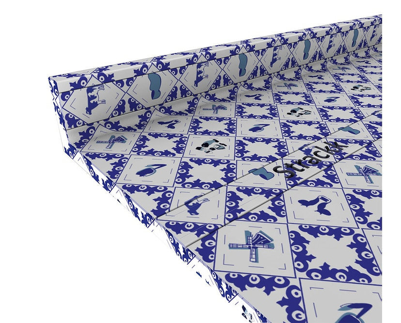 Strackk - Delft Blue Wandregal - blau/weiß - 50 cm - 2