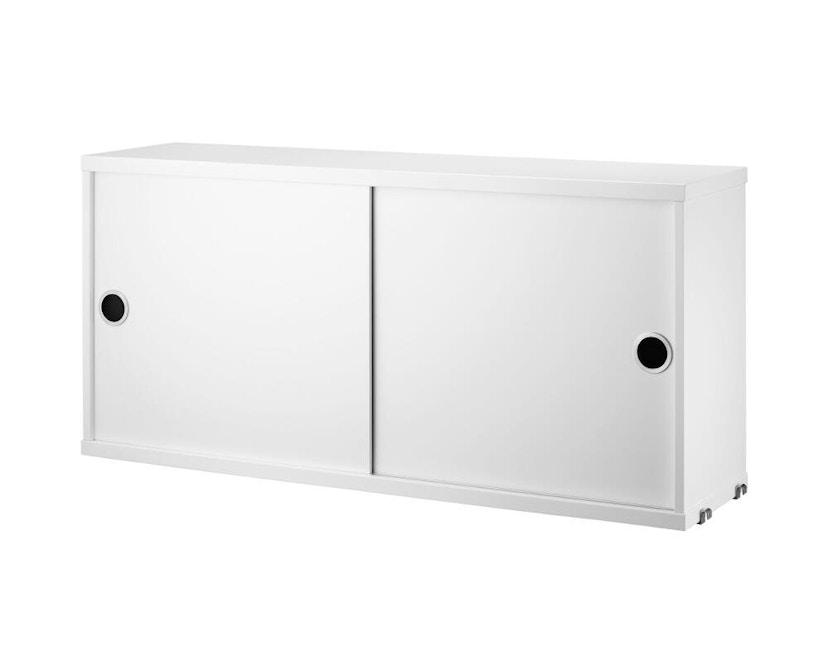 String - Schrank mit Schiebetüren - weiß - 78 x 20 cm - 0