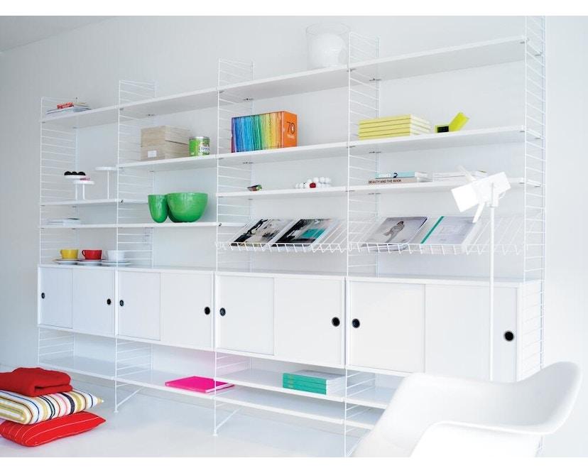 String - Schrank mit Schiebetüren - weiß - 78 x 30 cm - 2