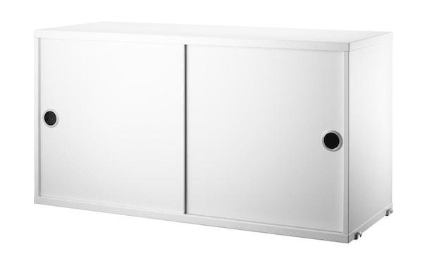 String - Schrank mit Schiebetüren - weiß - 78 x 30 cm - 1