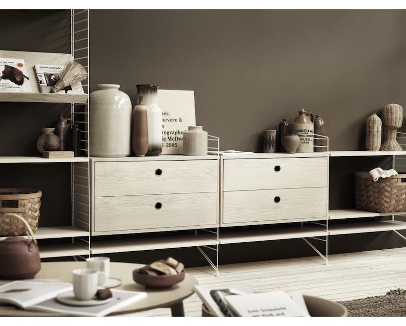 String - Plank vloerladder - zwart - 85 cm - afzonderlijk - 2