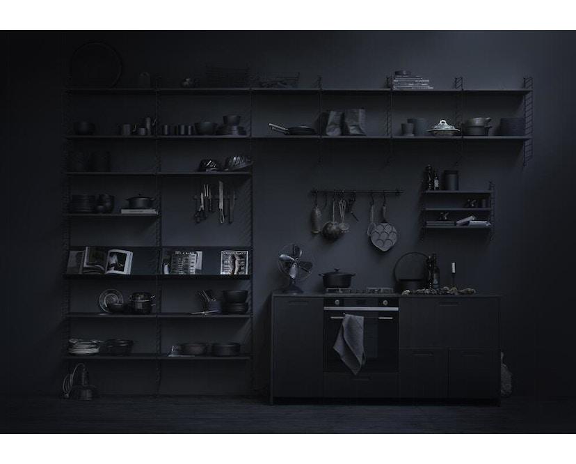 String - Regal Wandleiter - schwarz - 2er Set, 50 x 30 cm - 2