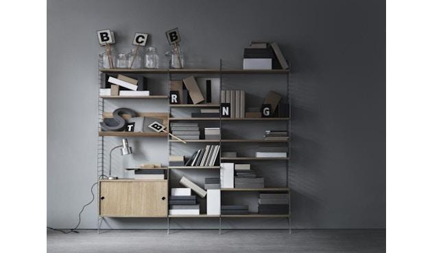 String - Regal Wandleiter - schwarz - 2er Set, 50 x 30 cm - 3