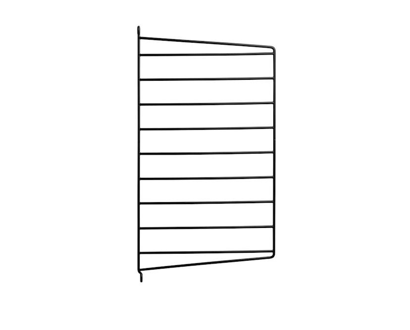 String - Regal Wandleiter - schwarz - 2er Set, 50 x 30 cm - 1