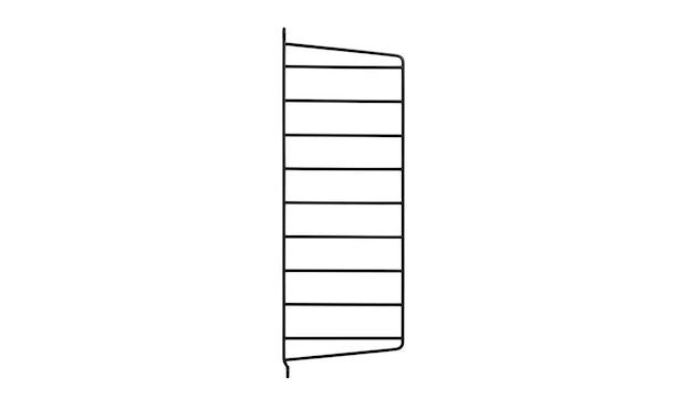 String - Regal Wandleiter - schwarz - einzeln, 50 x 20 cm - 1