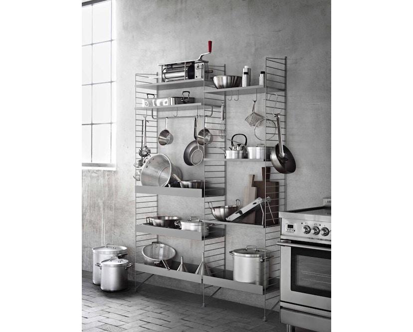 String - Regal Wandleiter - weiß - 2er Set, 75 x 20 cm - grijs - 50 x 30 cm - afzonderlijk - 3