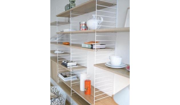 String - Regalböden 3er Set - weiß - 58 x 30 cm - 58 x 30 cm - Eiken - 3