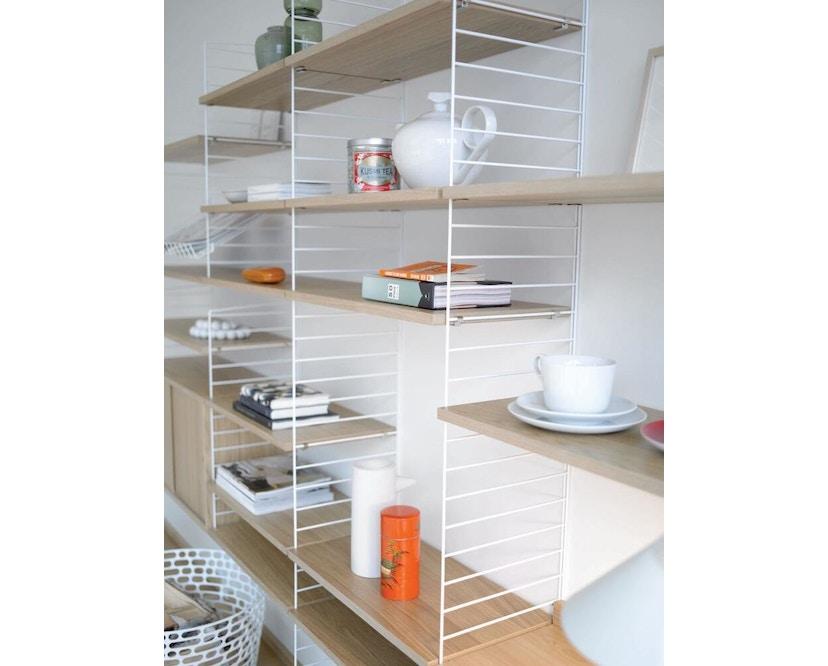 String - Regalböden 3er Set - weiß - 58 x 30 cm - Eiken - 78 x 30 cm - 3